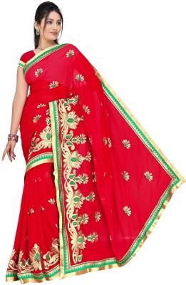 Randeria Fabrics Self Design Fashion Chiffon Sari