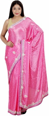 Arifzariart Embriodered Fashion Synthetic Fabric Sari