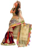 Snh Export Embroidered Bollywood Net Sar...