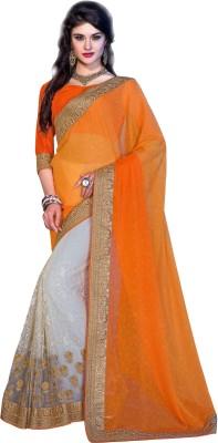 Crafts N Culture Embriodered Fashion Jacquard, Net Sari