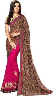 Kabira Checkered Fashion Georgette Sari