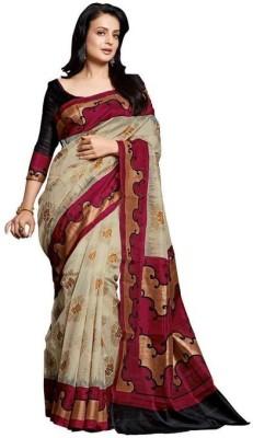Emporiodeals Self Design Bhagalpuri Georgette Sari