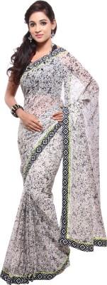 Geisha Printed Fashion Synthetic Chiffon Sari