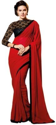 Temptingg Fashions Embellished Fashion Chiffon Sari