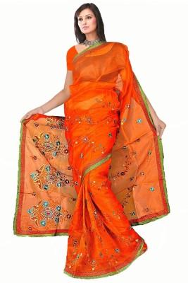MGS Solid Fashion Net Sari