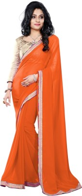 Vruticreation Self Design, Embriodered Bollywood Handloom Georgette Sari