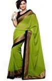Elevate Women Solid Fashion Chiffon Sare...