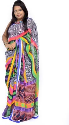 Gulmohaar Geometric Print, Printed Bollywood Georgette Sari