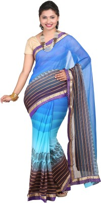 vinaa sarees Printed Fashion Synthetic Chiffon Sari