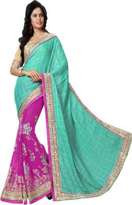 JDS FASHION Embriodered Bhagalpuri Banarasi Silk Sari