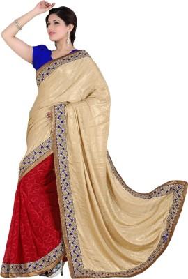V-Style4u Embriodered Fashion Crepe, Brasso Sari
