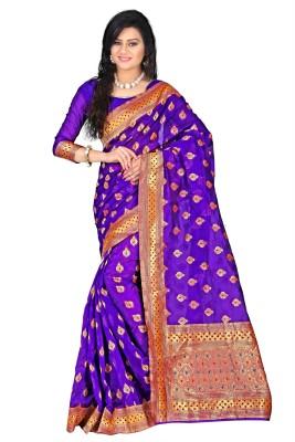 Weavedeal Embellished Banarasi Banarasi Silk Sari