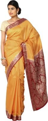 Aks Worldshop Solid Banarasi Art Silk Sari