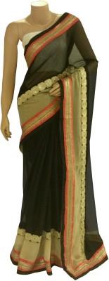 BEAUVILLE VAIIBAVAM Embellished Fashion Chiffon, Shimmer Fabric Sari