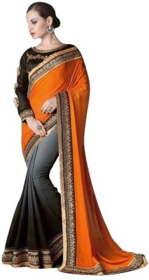 Mert India Embriodered Fashion Georgette Sari