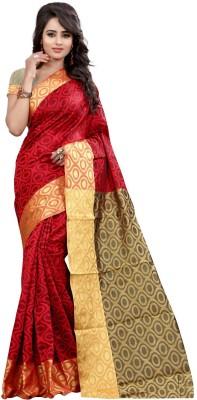 loot lo creation Self Design Bandhej Art Silk Sari