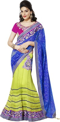 Moh Manthan Self Design Lehenga Saree Jacquard, Net, Satin Sari