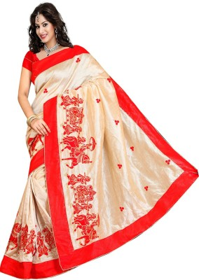 Patricia Embriodered Assam Silk Silk Sari