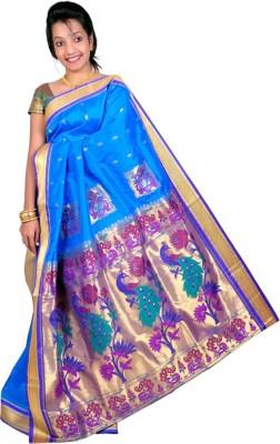 K&G Sarees Woven Paithani Art Silk Sari