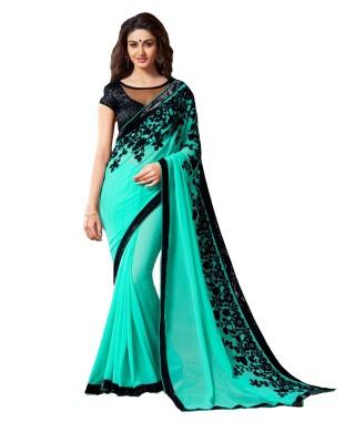 Lolla Fashion Embriodered Fashion Georgette Sari