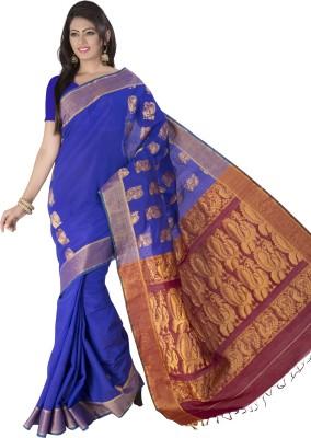 Dwiti Ethnic Solid Fashion Handloom Cotton Sari