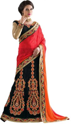Stylezone Embriodered Lehenga Saree Net Sari