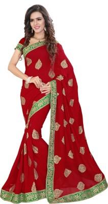 Jhenny Fabrics Embriodered Fashion Handloom Georgette Sari