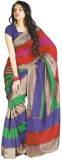 Kjs Striped Bollywood Art Silk Saree (Mu...
