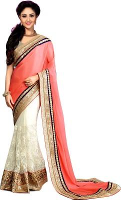 VedDeal Self Design Fashion Pure Georgette Sari