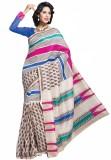 Sunaina Printed Silk, Cotton Saree (Mult...