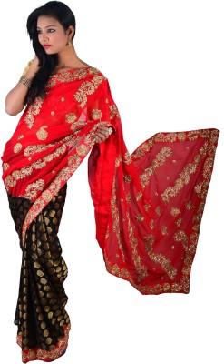 Ak designs Embellished Fashion Cotton Lycra Blend Sari