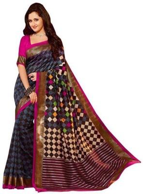 Aimretail Printed Fashion Khadi Sari