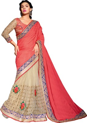 Queenbee Embellished, Embriodered, Self Design Fashion Crepe, Jacquard, Georgette, Net Sari