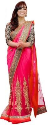 TodayNFashion Embriodered Fashion Net Sari