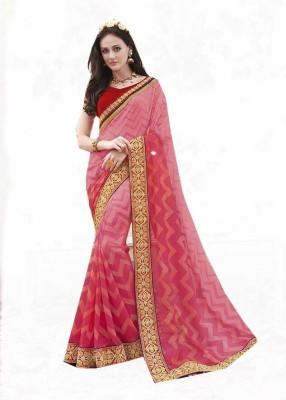 Rajhans Fashion Polka Print Fashion Georgette Sari