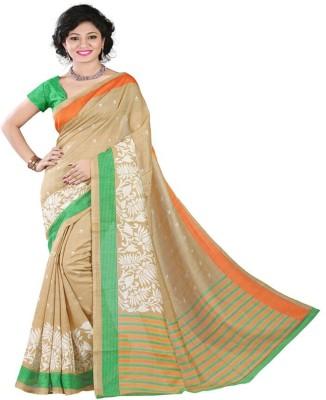 Sonakshi Sarees Striped Mysore Rayon Sari