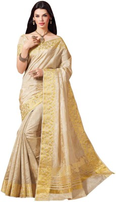 Kuberan Floral Print Fashion Raw Silk Sari
