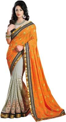 JS Pavitra Fabrics Embriodered Fashion Georgette Sari