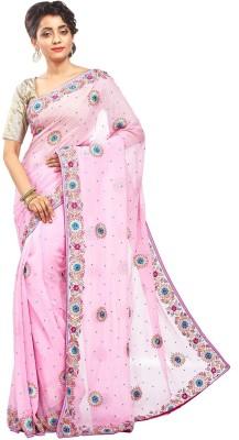RBSarees Self Design Fashion Pure Georgette Sari