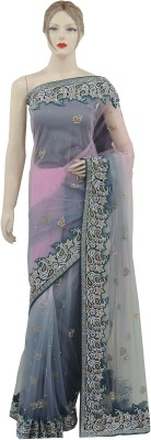 Veena Saree Embriodered Bollywood Net Sari