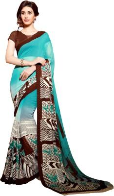 Roop Kashish Embellished Bollywood Georgette, Satin Sari
