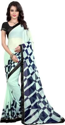 Arya Fashion Geometric Print Bollywood Georgette Sari