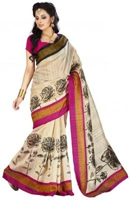 Krutika Printed Bhagalpuri Silk Sari