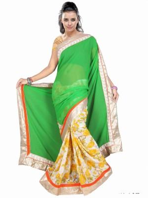 Dancing Girl Solid Bollywood Georgette Sari
