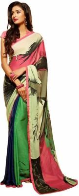 Royal Desi Apparel Printed Fashion Jacquard Sari