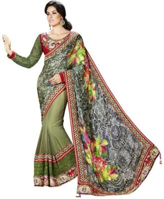 Moh Manthan Self Design Fashion Satin, Net, Jacquard Sari