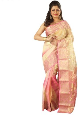 Rajib's Creation Embriodered Fashion Handloom Silk Sari