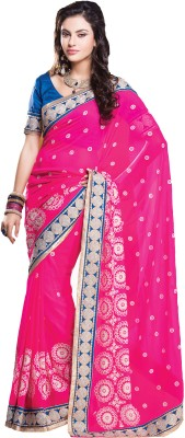 Urjita Creations Self Design Fashion Georgette Sari