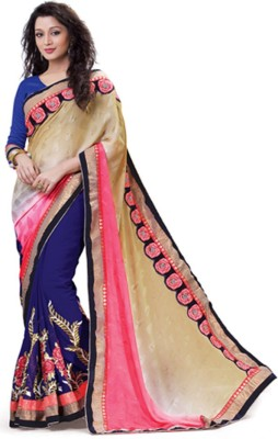 Laajjo Embriodered Fashion Georgette Sari