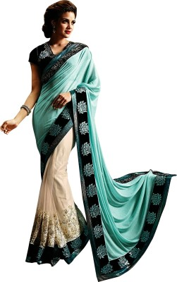 Colour Trendz Self Design Fashion Satin Sari